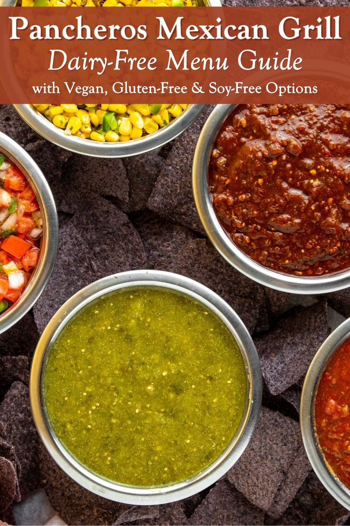 Pancheros Mexican Grill Dairy-Free Menu Guide with Vegan, Gluten-Free, and Soy-Free Options. Allergen Menu Info.