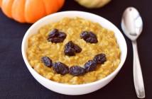 Warm, comforting, nourishing Pumpkin Pie Oatmeal (dairy-free, gluten-free, vegan)