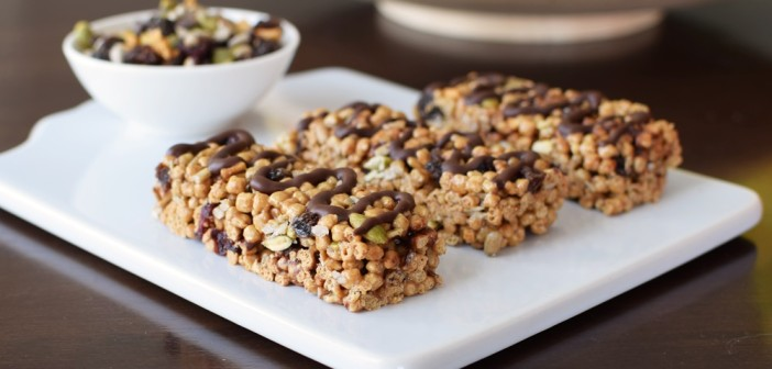Super-Friendly Trail Mix Cereal Bars