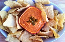 This Healthy Vegan Queso Dip Recipe is fast, flavorful and free of dairy, gluten, nuts and soy!