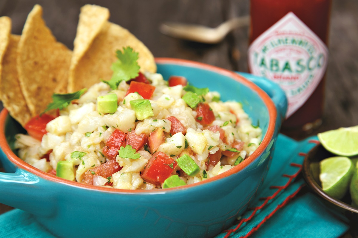 Spicy Mexican Ceviche Recipe with Tabasco and Lime