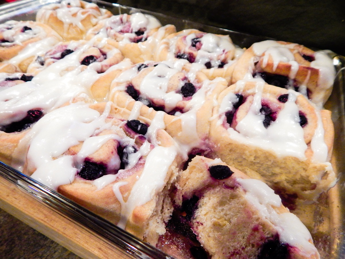 Blueberry Breakfast Buns with Lemon Icing Recipe - Dairy-Free, Soy-Free, and Nut-Free with Vegan and Egg-Free Options