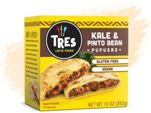 Tres Pupusas Reviews & Info (Dairy-Free Varieties) – These are Salvadorian Stuffed Corn Flatbreads from the Freezer. Pictured: Vegan Kale and Pinto Bean