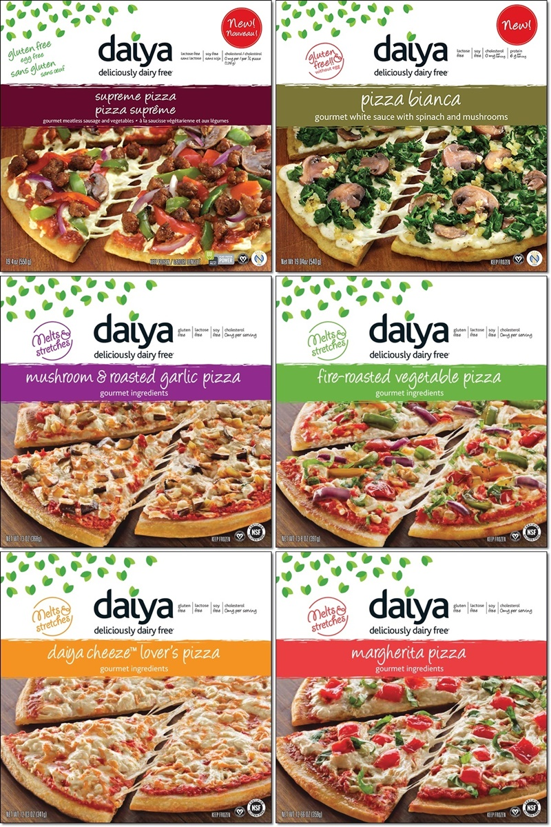 Daiya Dairy Free Frozen Pizzas (6 varieties!) - all vegan, gluten-free and made without top allergens.