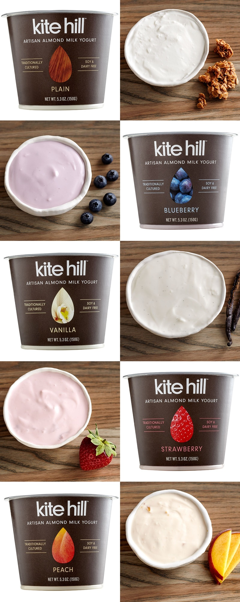 Kite Hill Almond Milk Yogurt; dairy-free, soy-free and vegan, but rich and creamy like true European-style yogurt.