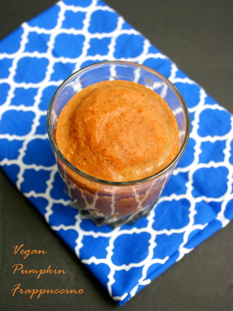 Vegan Pumpkin Frappuccino Recipe - This easy frappe is free of dairy, gluten, refined sugars and other top allergens, but is still a sweet delight!