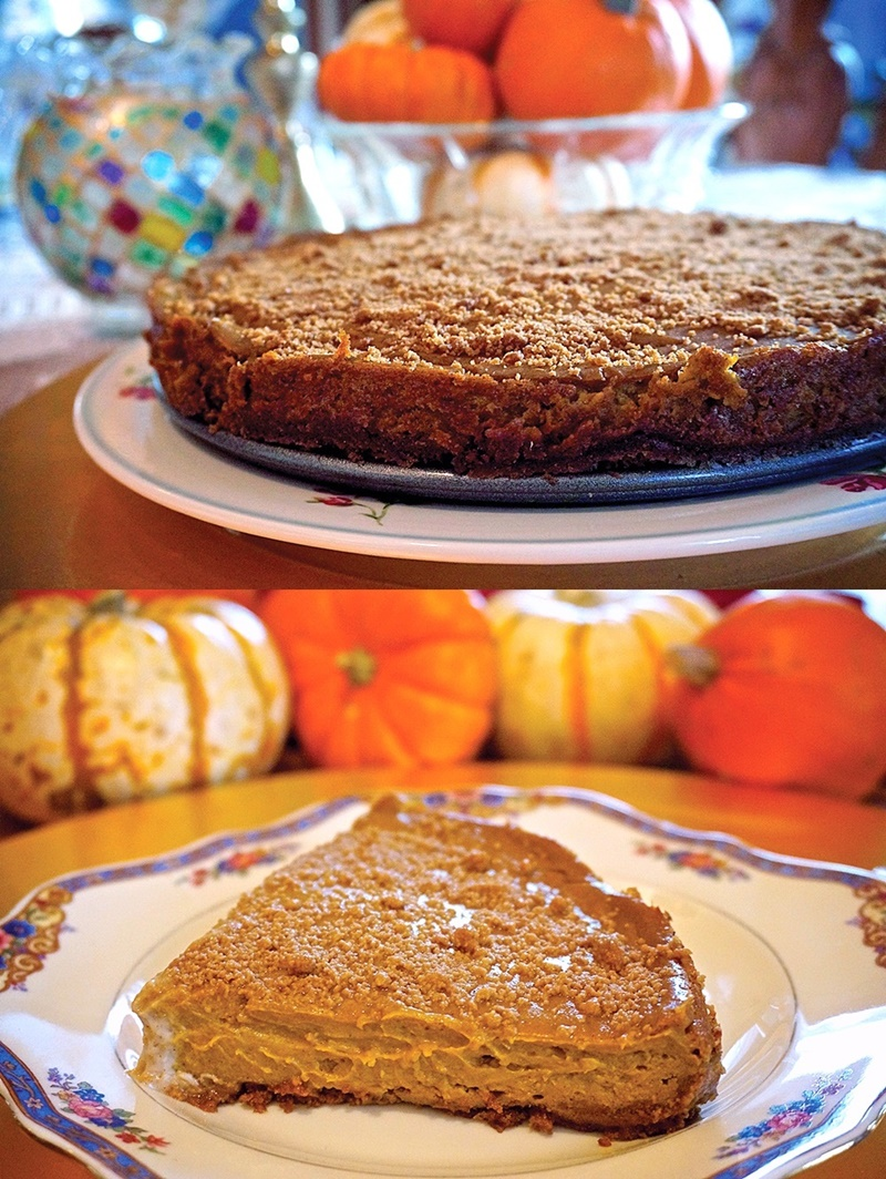 Dreamy Pumpkin Spice Cheeze-Cake - this dairy-free & vegan cheesecake recipe is a decadent yet healthier holiday treat.