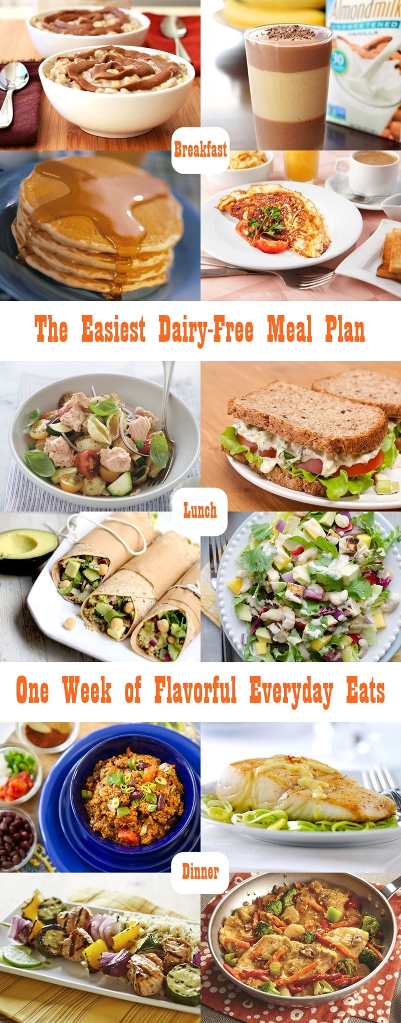 The easiest dairy free meal plan gluten free optional the easiest dairy free meal plan a week long menu of simple forumfinder Gallery