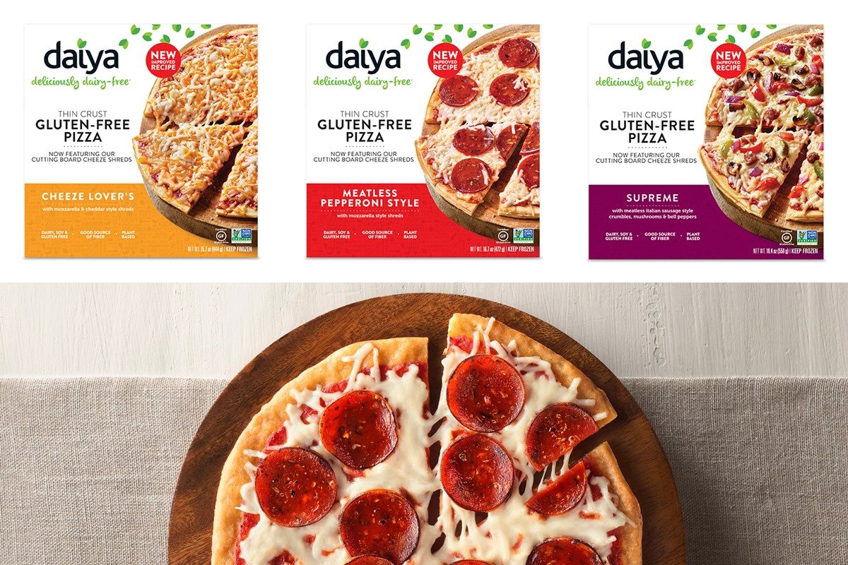 Daiya Dairy Free Pizzas Reviews and Information (7 Varieties, all Vegan, Gluten-Free, Nut-Free, and Soy-Free!) We have ingredients, ratings, and more.
