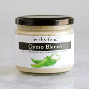 Let Thy Food Vegan Dips Reviews and Info - Five Dairy-Free Varieties. Pictured: Queso Blanco