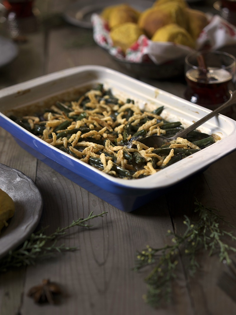 How to Host a Delicious Dairy-Free Thanksgiving (Tips, Swaps, and Recipes) - Pictured: Dairy-Free Green Bean Casserole