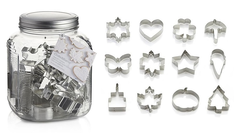 Twelve Awesome Kitchen Gifts that will actually get used! Perfect for any foodie on your list. Pictured: Crate & Barrel Year of Cookie Cutters (picture-perfect set of 12 for every occasion)