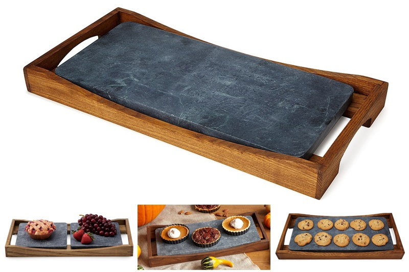 Twelve Awesome Kitchen Gifts that will actually get used! Perfect for any foodie on your list. Pictured: Oven to Table Entertainment Platter with INSANE thermal abilities.