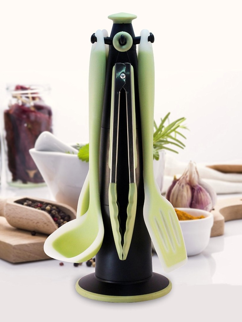 Twelve Awesome Kitchen Gifts that will actually get used! Perfect for any foodie on your list. Pictured: MKUU 6 Piece Premium Silicone Cooking Utensils Set