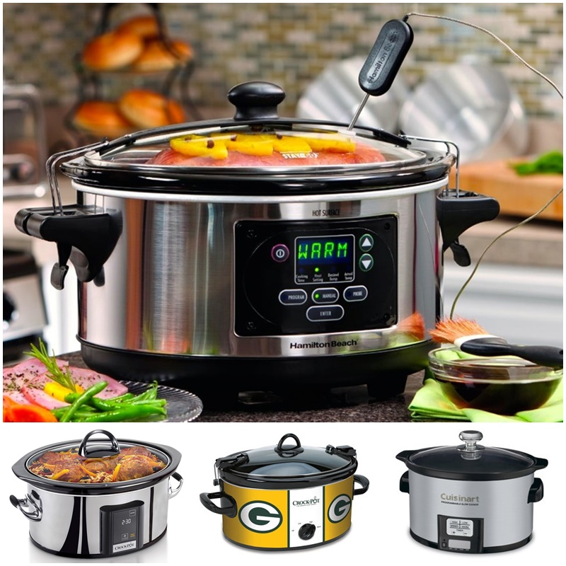 Twelve Awesome Kitchen Gifts that will actually get used! Perfect for any foodie on your list. Pictured: A slow cooker for everyone (Crockpot Lady's Top Picks + Perfect for Small Households & Favorite Team NFL Crock-Pots)
