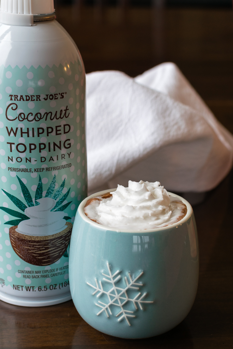 Trader Joe's Non-Dairy Coconut Whipped Topping - vegan, dairy-free and made with coconut cream