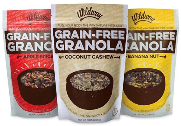 Wildway Grain-Free Granola - A sweet, chewy, nutty melange of flavors that just works! Nutrient-dense, paleo, vegan and no added sugars.