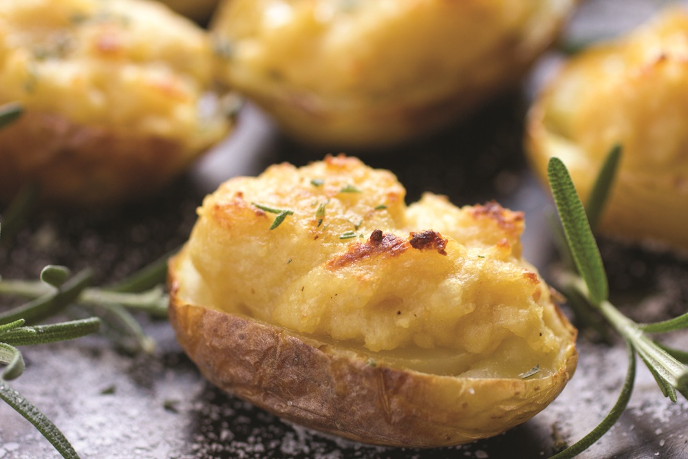 Twice Baked Potato Jackets with Rosemary