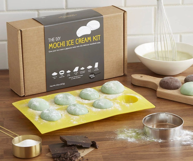 20 Delicious Dairy-Free Food Gifts for Everyone on Your List - unique presents with plant-based, vegan, gluten-free, paleo, and allergy-friendly options. Pictured: DIY Mochi Kit