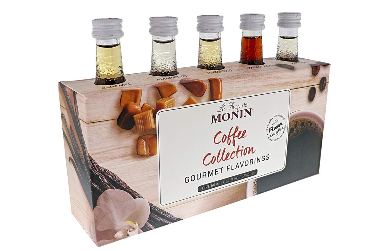 20 Delicious Dairy-Free Food Gifts for Everyone on Your List - unique presents with plant-based, vegan, gluten-free, paleo, and allergy-friendly options. Pictured: Monin Coffee Syrups