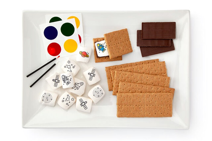 20 Delicious Dairy-Free Food Gifts for Everyone on Your List - unique presents with plant-based, vegan, gluten-free, paleo, and allergy-friendly options. Pictured: Paint Your Own S'mores Kit