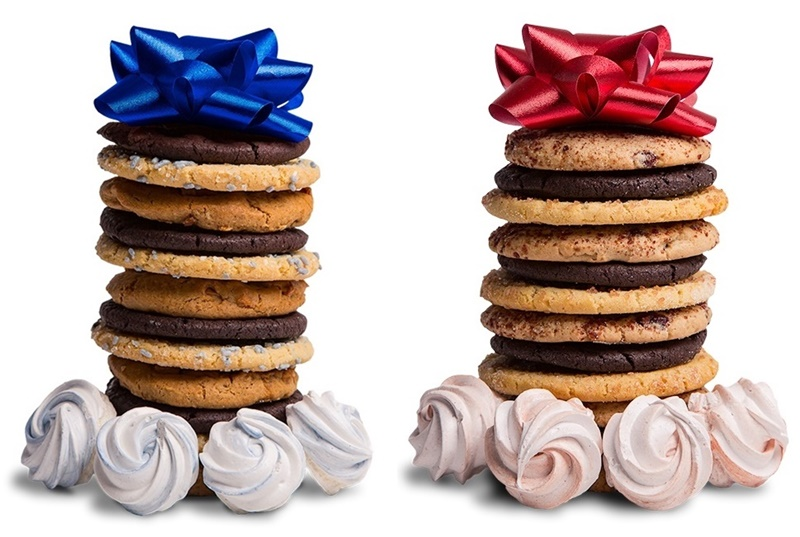 10 Delicious Dairy-Free Food Gifts with Something for Everyone On Your List (all packaged and ready for gifting!). Pictured: NoMoo Cookies for Christmas and Hannukah