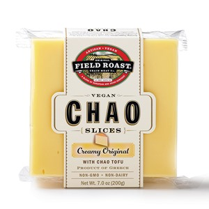 Chao Vegan Cheese Slices Reviews & Information (Dairy-Free, Gluten-Free) - full product details and ratings! Pictured: Creamy Original