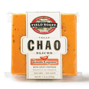 Chao Vegan Cheese Slices Reviews & Information (Dairy-Free, Gluten-Free) - full product details and ratings! Pictured: Tomato Cayenne