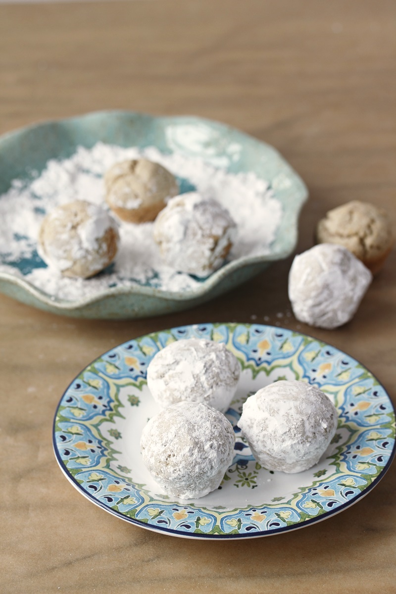 Powdered Doughnut Holes Recipe from The Allergy Free Pantry by Colette Martin. Amazingly dairy-free, gluten-free, top allergy-friendly and vegan!