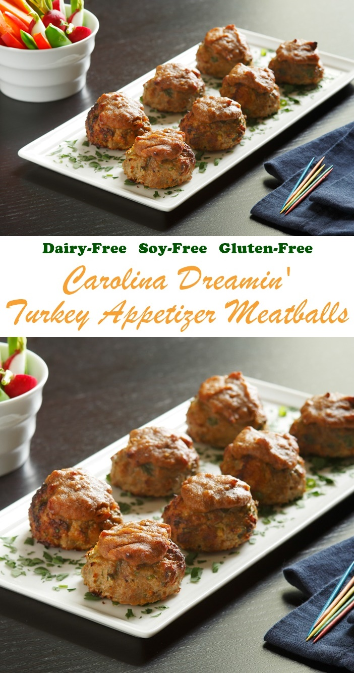 Carolina Dreamin' Appetizer Turkey Meatballs - a naturally gluten-free, dairy-free, soy-free recipe!