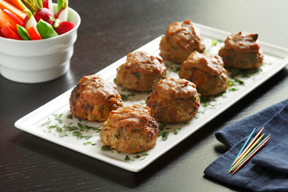 Carolina Dreamin' Appetizer Turkey Meatballs - a naturally gluten-free, dairy-free, soy-free recipe!