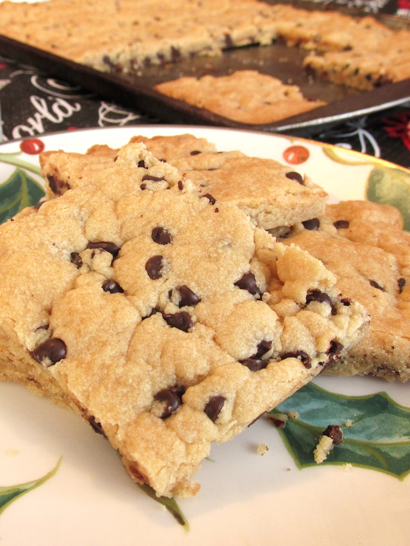 Easy Chocolate Chip Shortbread - a Kids Can Cook recipe! Made with brown sugar, a surprisingly dairy-free and vegan treat that everyone will love.