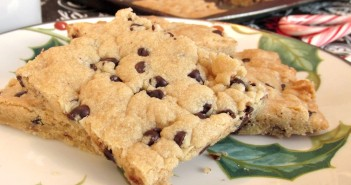 Chocolate Chip Shortbread - a Kids Can Cook recipe! Made with brown sugar, a surprisingly dairy-free and vegan recipe!