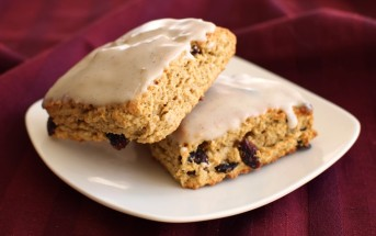 Vegan Cranberry Vanilla Scones