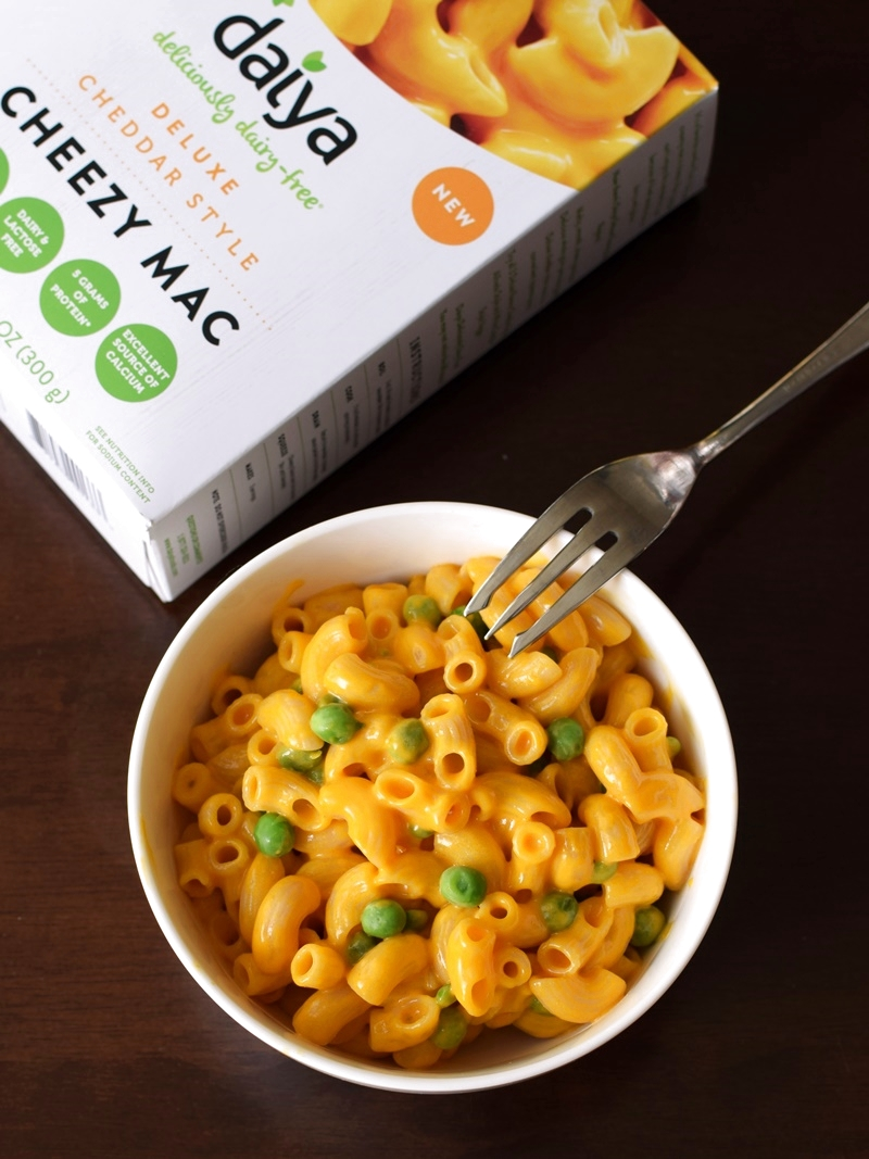Daiya Cheezy Mac: Deliciously Dairy-Free & Convenient! Everything you need right in the box, 3 varieties, vegan, gluten-free, top allergen-free and mighty tasty!