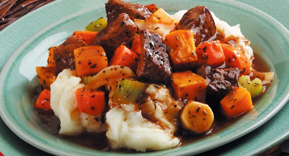 Hearty Beef Stew with Roasted Winter Vegetables - a warming gluten-free, dairy-free recipe for those chilly days!