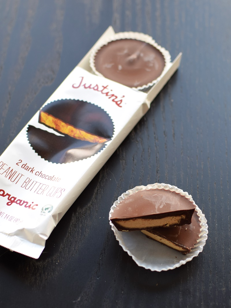 Justin's Organic Peanut Butter Cups - No, the ingredients in the Dark Chocolate haven't changed, they're still made without milk / dairy ingredients!