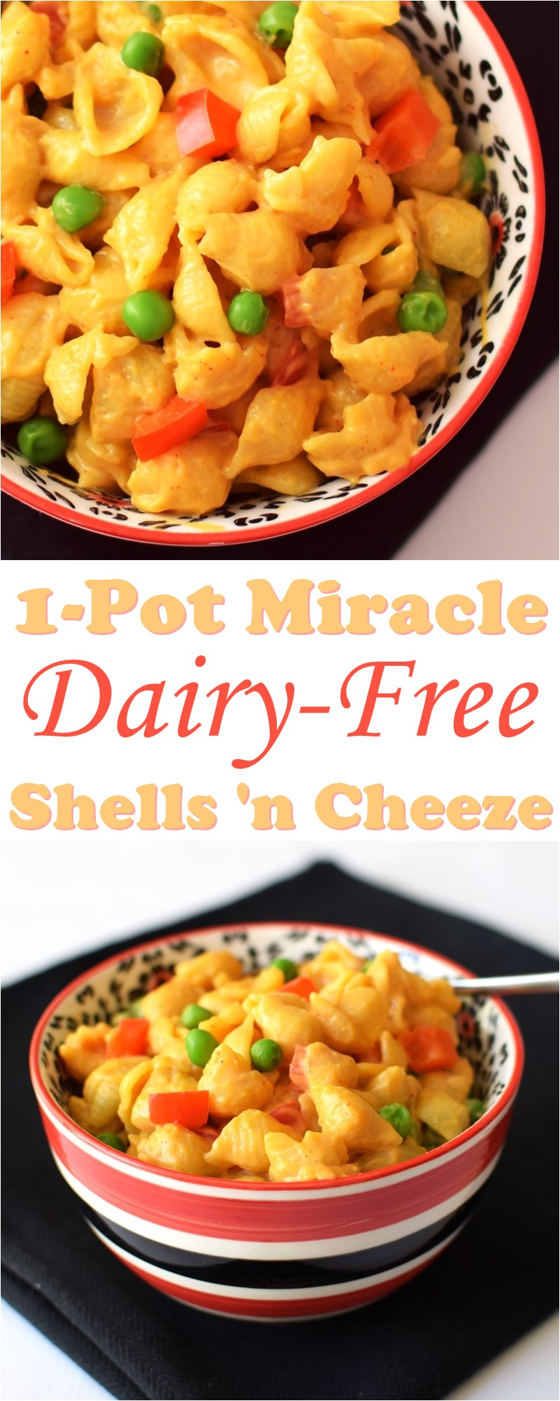 Dairy-Free Miracle Mac and Cheese Recipe! (shells & cheese pictured) - Easy, 1-pot, vegan, gluten-free optional