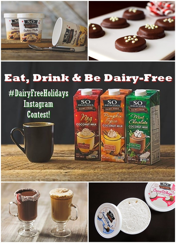 Eat, Drink and Be Dairy Free Instagram Contest! Show us your favorite way to enjoy any So Delicious product over the holidays on Instagram - daily prizes! Tag @so_delicious @godairyfree #dairyfreeholidays to enter