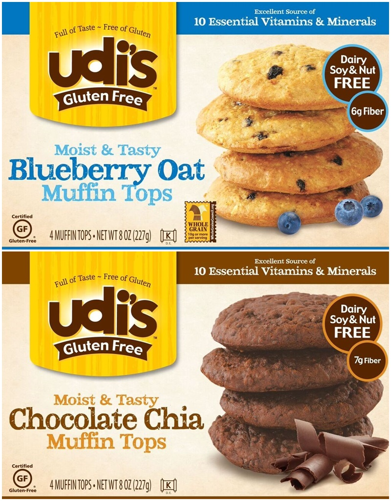 Udi's Gluten Free Breakfast Pastries (Muffins, Muffin Tops and Cinnamon Rolls!) all dairy-free, too