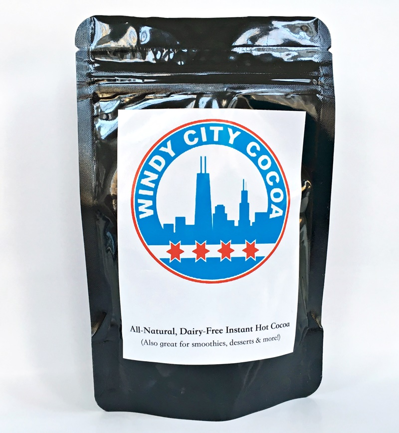 Windy City Cocoa - vegan, dairy-free, top allergen-free hot chocolate that is made with gluten-free oats! Surprisingly rich.