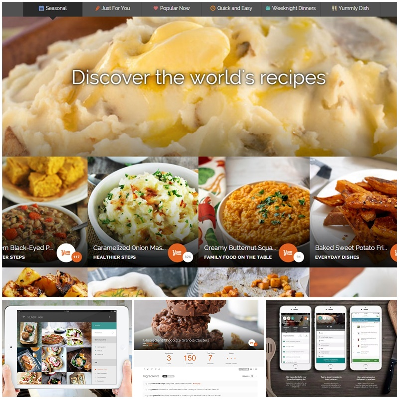 The Top Social Sites for Special Diets (Allergies, Gluten-Free, Dairy-Free, Vegan and Beyond) for Desktop, Tablet and Mobile (Pictured: your personalized recipe box on Yummly.com