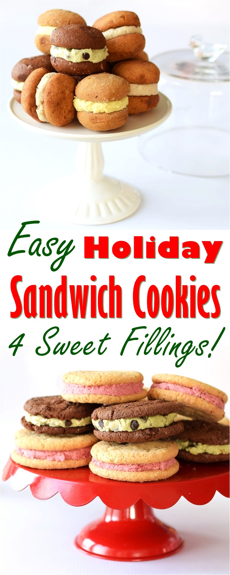 Easy Holiday Sandwich Cookies - Mint Chocolate Chip, Lemon-Iced Gingerbread, Berry Sugars, and Maple-Doodle Recipes (dairy-free, gluten-free, vegan & top allergen-free!)