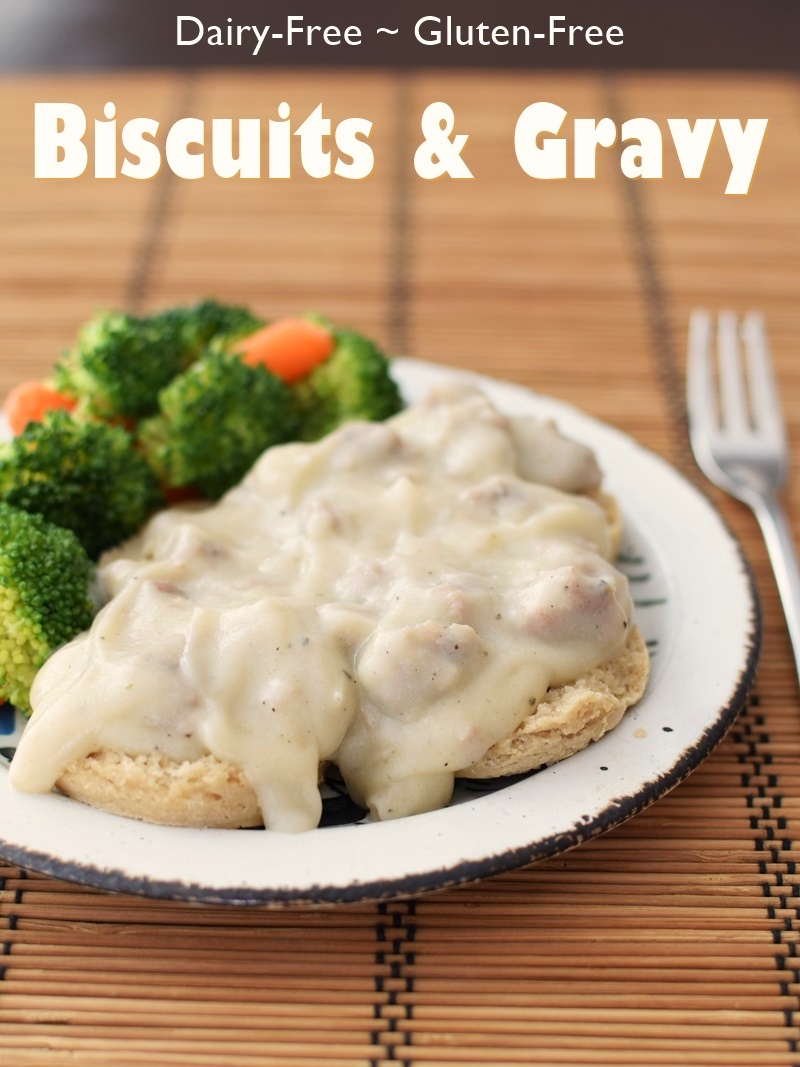 Cream Biscuits and Gravy Recipe: Gluten-Free, Dairy-Free & Sneaky ... yes, that really is a creamy, delicious, easy, from-scratch cauliflower gravy!