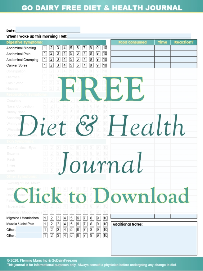 FREE Diet and Health Journal now Fillable, Saveable, Shareable, and Printable! Includes simple but detailed symptom tracker chart, food log, and more. Helps identify food intolerance, sensitivities and allergies with your physician.