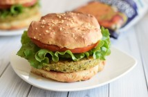Hilary's Eat Well Veggie Burgers - all vegan, gluten-free and immensely wholesome. Pictured: Hemp & Greens