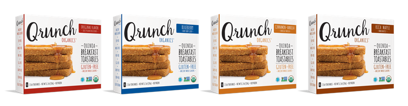 Qrunch Toastables - a tasty, super-hearty breakfast for quinoa and millet fans! Gluten-free, dairy-free, vegan and allergy-friendly