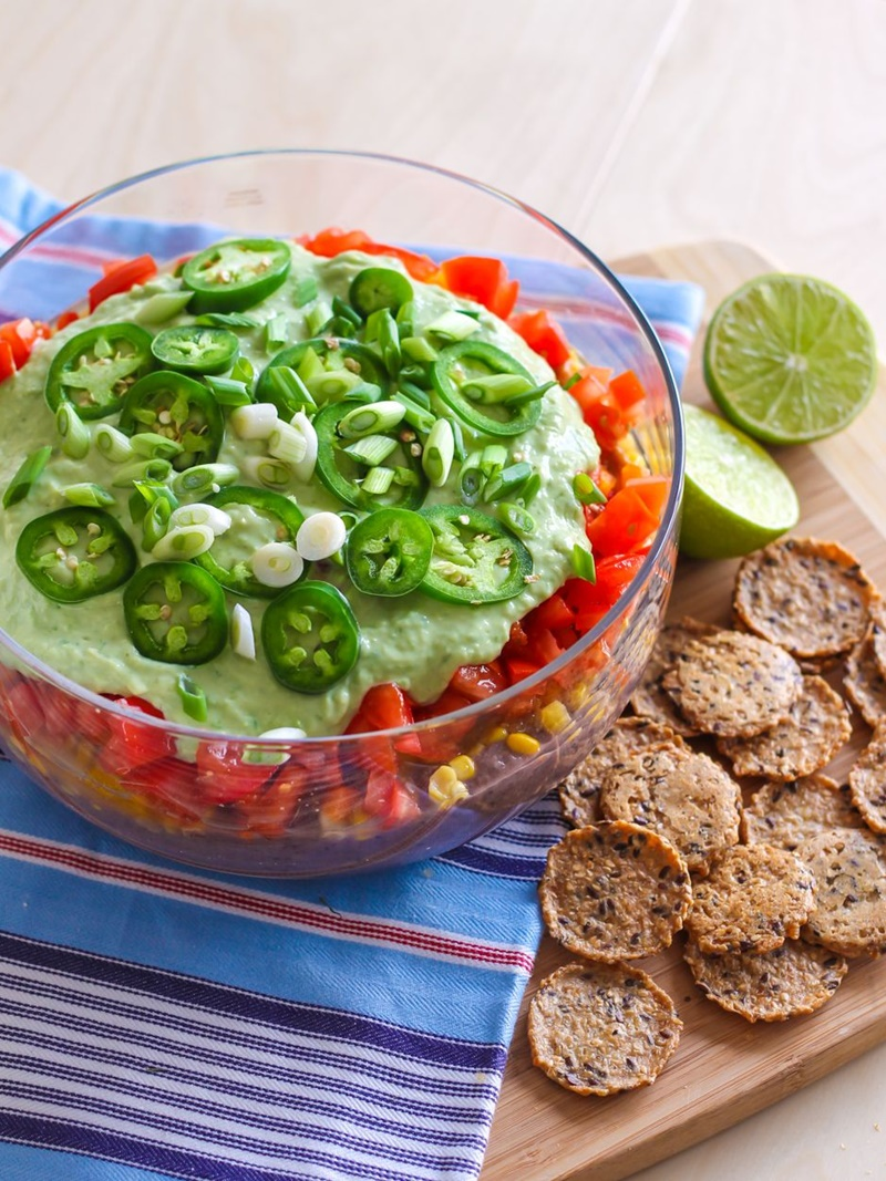 21 Days of Delicious, Nutritious Recipes for the 21-Day Dairy-Free Challenge with So Delicious! Pictured: Vegan 7-Layer Taco Dip