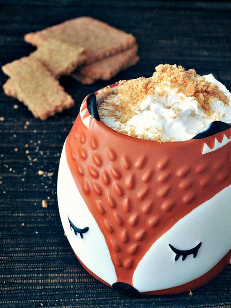 21 Days of Delicious, Nutritious Recipes for the 21-Day Dairy Free Challenge with So Delicious! Pictured: Toasty Graham Coffee Latte with Cinnamon Whip