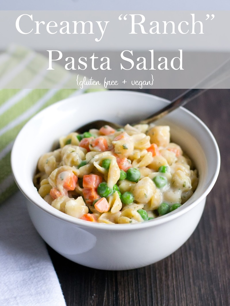 21 Days of Delicious, Nutritious Recipes for the 21-Day Dairy-Free Challenge with So Delicious! Pictured: Creamy Ranch Pasta Salad